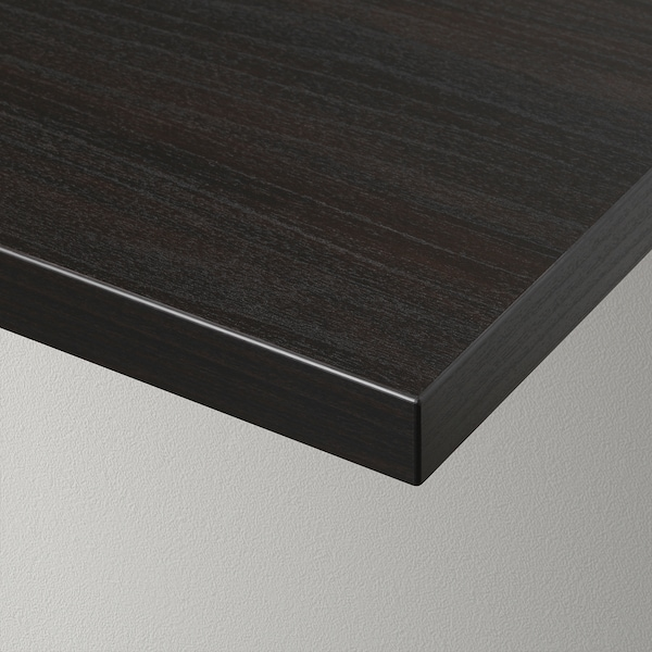 BERGSHULT Shelf, brown-black, 120x30 cm