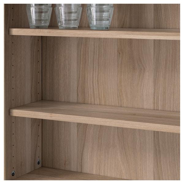 BESTÅ Shelf, grey stained walnut effect, 56x16 cm