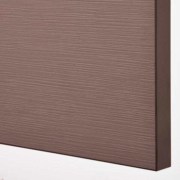 BESTÅ تشكيلة تخزين مع أبواب, أسود-بني/Hjortviken/Stubbarp بني, 120x42x74 سم