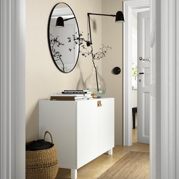 BESTÅ تشكيلة تخزين مع أبواب, أبيض/Lappviken/Stubbarp أبيض, 120x42x74 سم