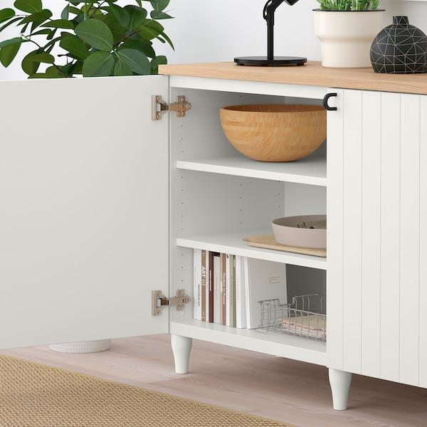 BESTÅ تشكيلة تخزين مع أبواب, أبيض/Sutterviken/Kabbarp أبيض, 180x42x76 سم