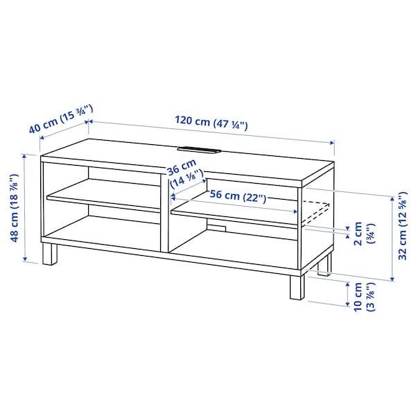 BESTÅ طاولة تلفزيون, أسود-بني, 120x40x48 سم