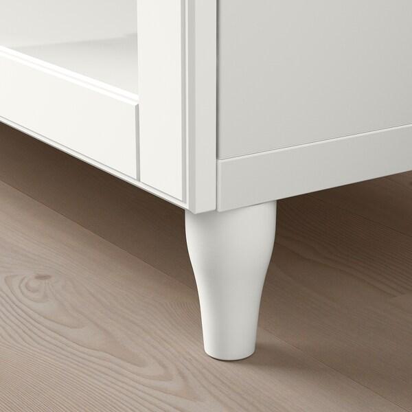 BESTÅ TV bench with drawers, white/Smeviken/Kabbarp white clear glass, 180x42x74 cm