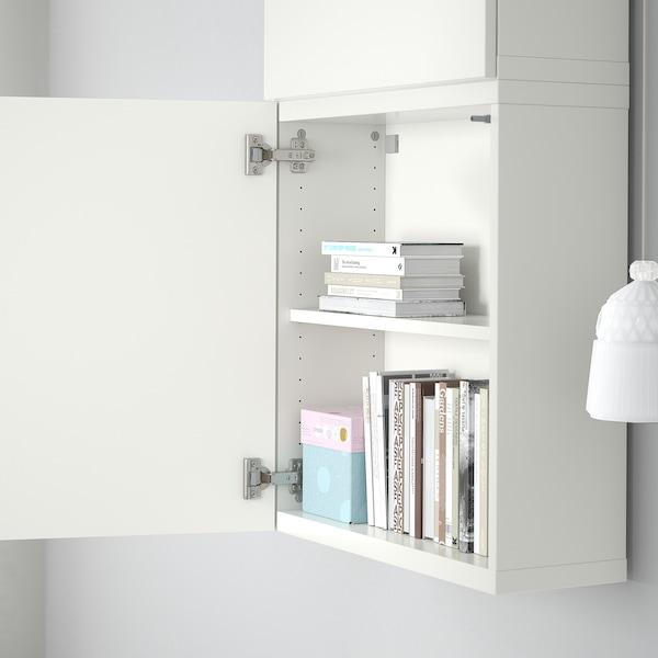 BESTÅ Wall cabinet with 2 doors, white/Lappviken white, 60x22x128 cm