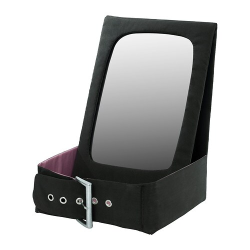 BETRAKTA Table mirror with storage   Mirror that stands on the table and has a practical storage space for jewellery, hairspray and accessories.