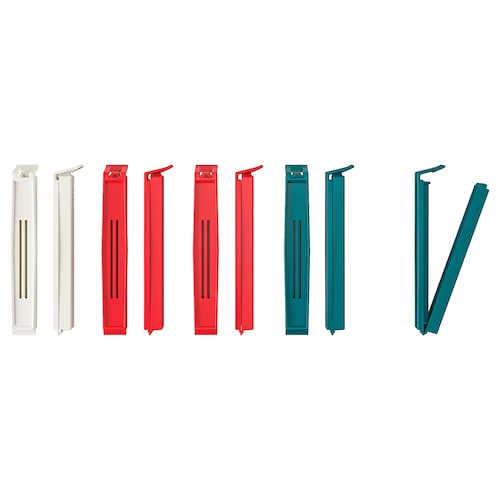BEVARA sealing clip mixed colours 10 pieces