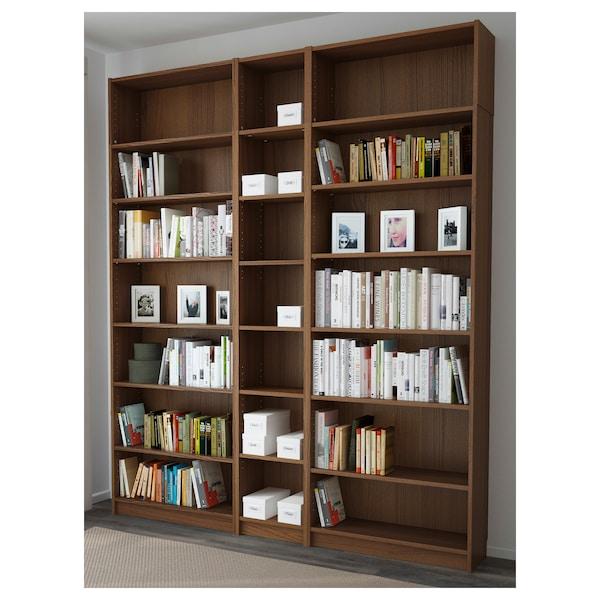 BILLY مكتبة, بني قشرة خشب الدردار, 200x28x237 سم