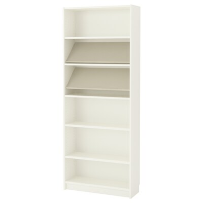 BILLY / BOTTNA Bookcase with display shelf, white/beige, 80x28x202 cm
