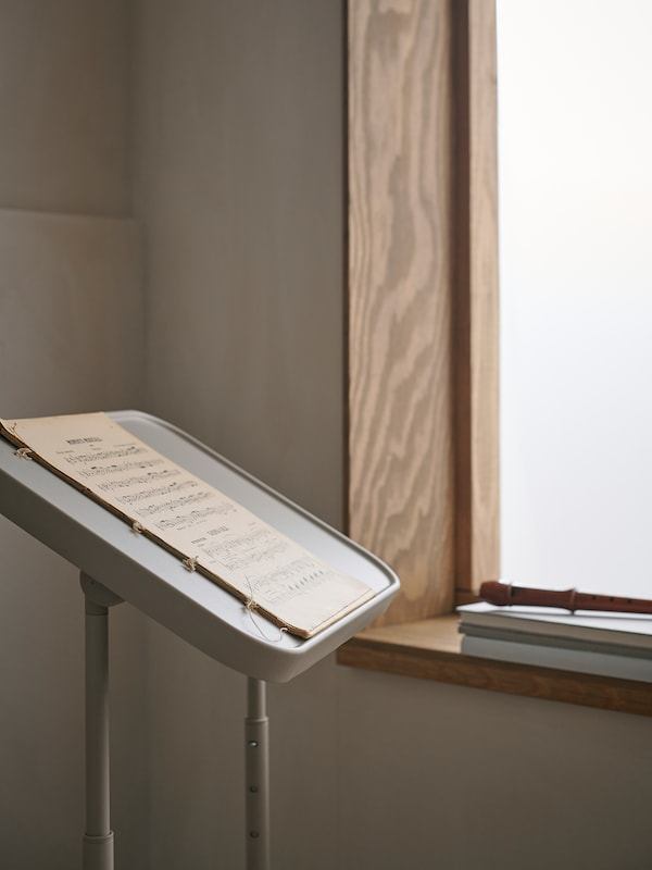 BJÖRKÅSEN Laptop stand, beige