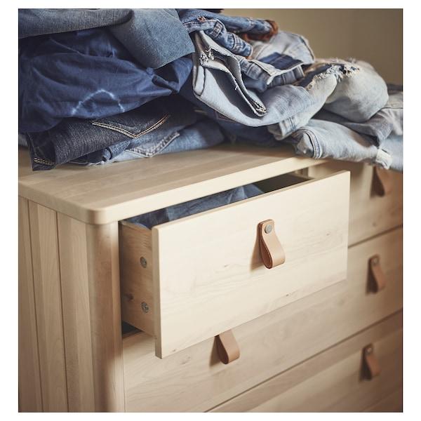 BJÖRKSNÄS Chest of 5 drawers, birch, 90x90 cm