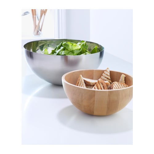 BLANDA MATT Serving bowl   Made of bamboo, which is an easy-care and hardwearing natural material.