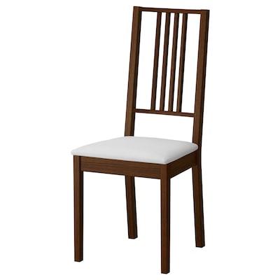 BÖRJE Chair, brown/Gobo white