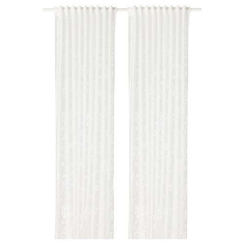 BORGHILD sheer curtains, 1 pair white 300 cm 145 cm 4.65 m² 2 pieces