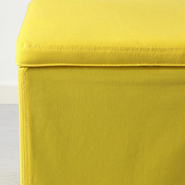 BOSNÄS Footstool with storage, Ransta yellow