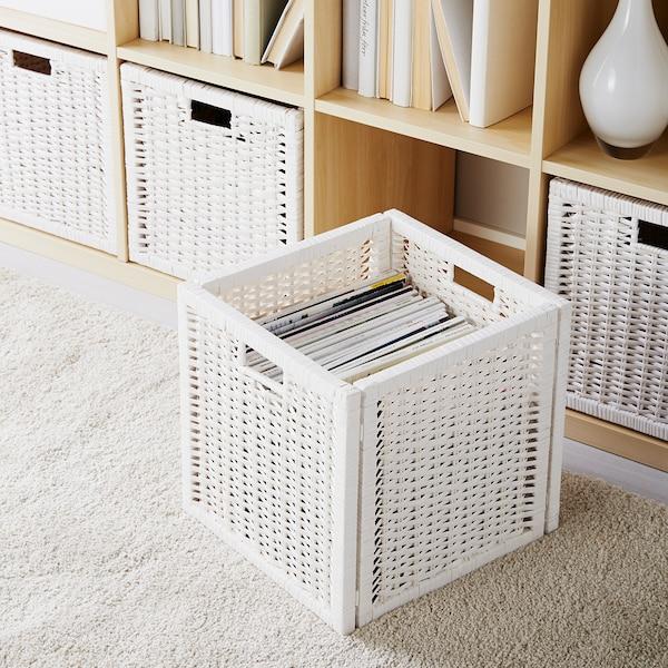 BRANÄS Basket, white, 32x34x32 cm