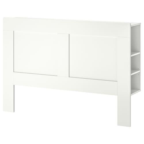 BRIMNES headboard with storage compartment white 146 cm 28 cm 111 cm 140 cm