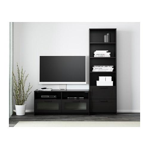 BRIMNES TV storage combination black IKEA
