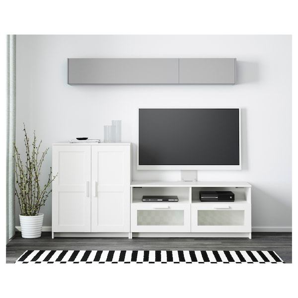 BRIMNES مجموعة تخزين تليفزيون, أبيض, 200x41x95 سم