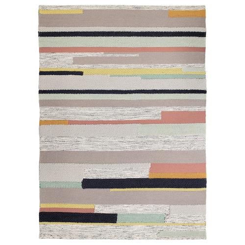 BRÖNDEN rug, low pile handmade multicolour 240 cm 170 cm 4.08 m² 2630 g/m²