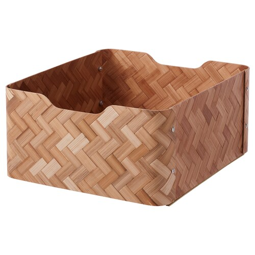 BULLIG box bamboo/brown 32 cm 35 cm 16 cm