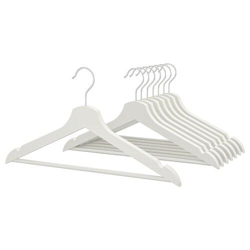 BUMERANG hanger white 43 cm 14 mm 8 pieces