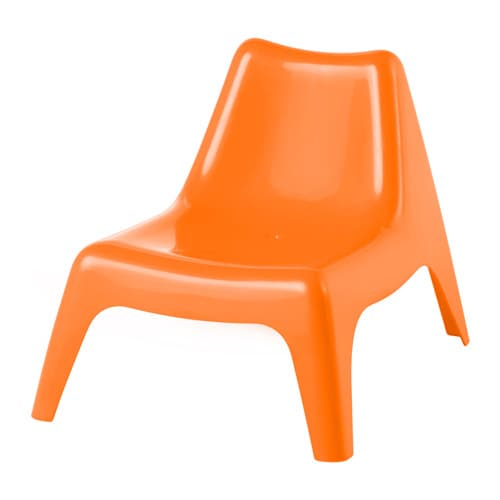 Buns children 39 s easy chair outdoor orange ikea - Ikea fauteuil plastique ...