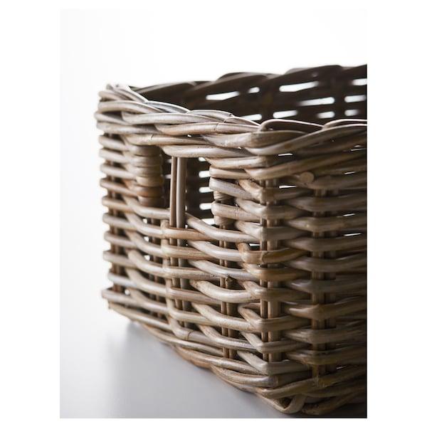 BYHOLMA Basket, grey, 25x29x15 cm