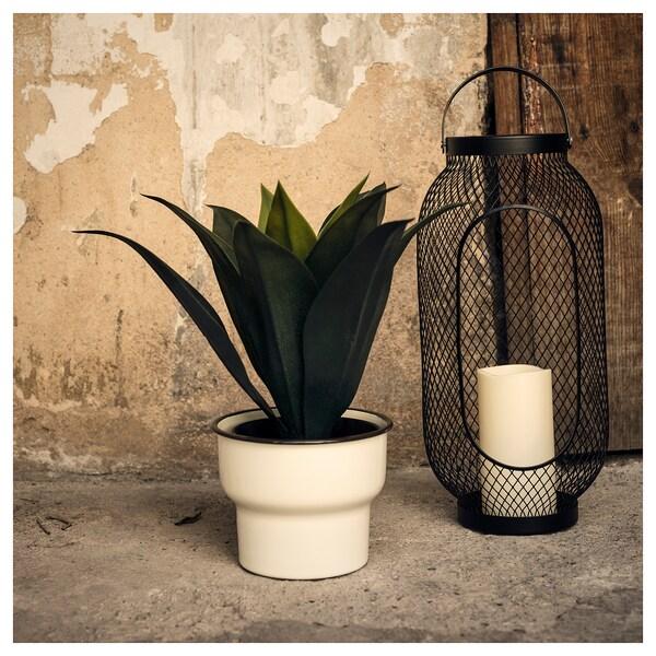 CITRONSYRA plant pot in/outdoor/white 14 cm 17 cm 15 cm 16 cm