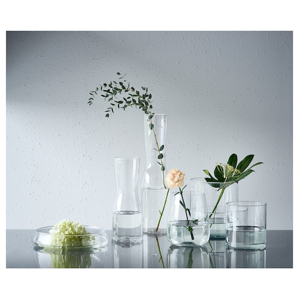 CYLINDER vase/bowl, set of 3 clear glass