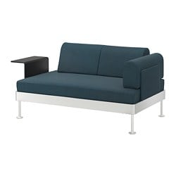 DELAKTIG 2-seat sofa with side table