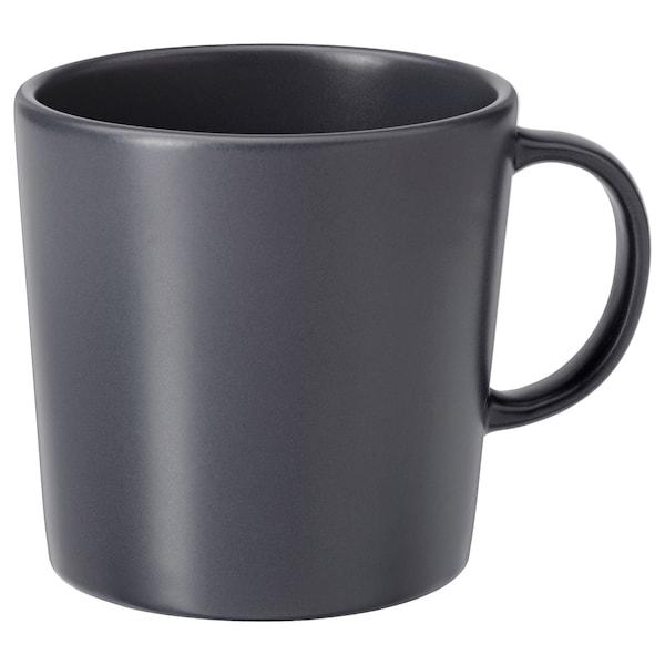 DINERA Mug, dark grey, 30 cl