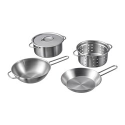 DUKTIG 5-piece toy cookware set