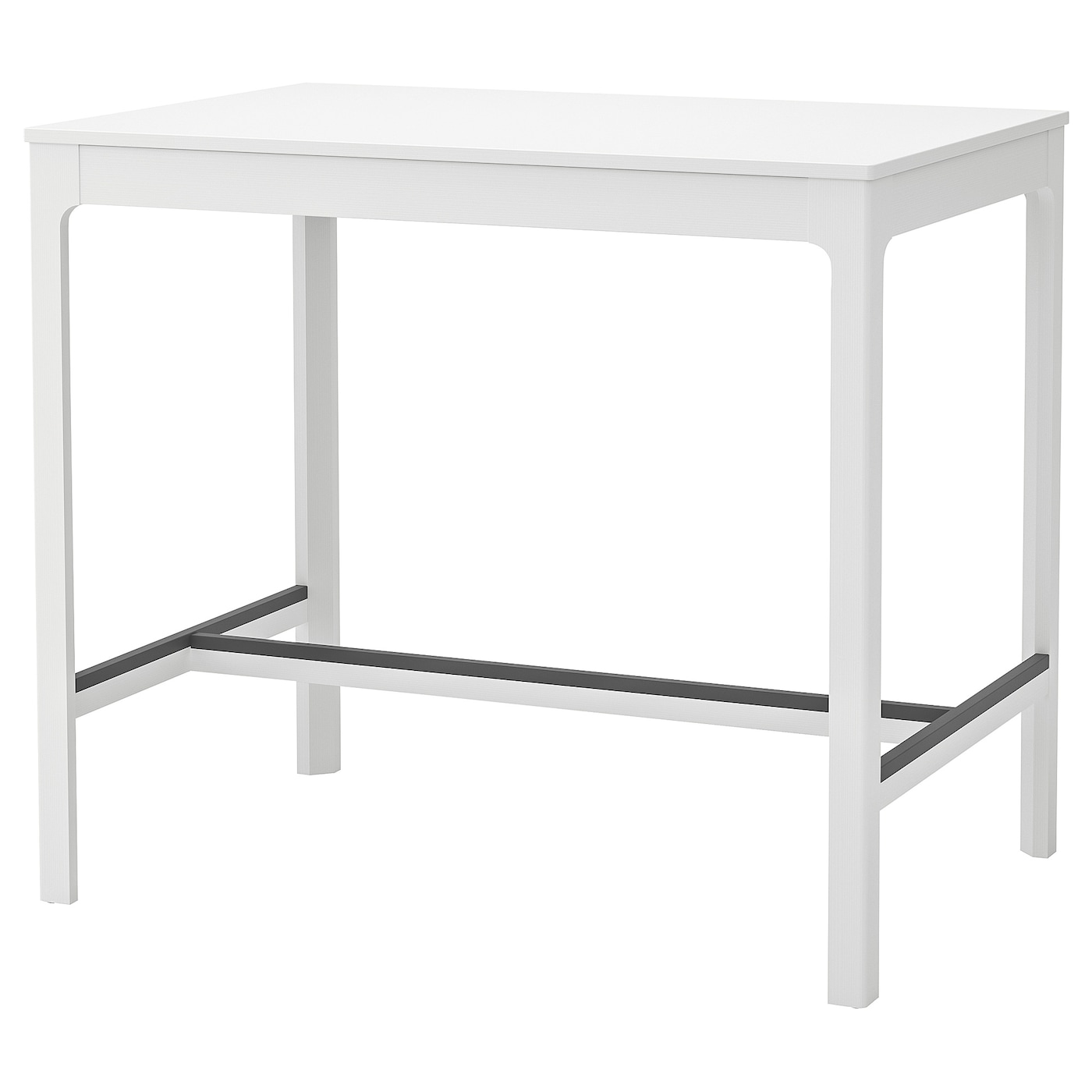 EKEDALEN Bar table - white 8x8 cm