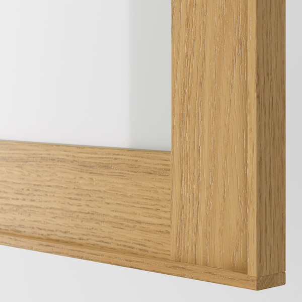 EKESTAD Glass door, oak, 40x80 cm
