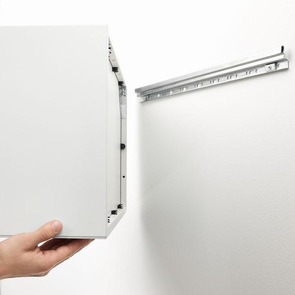 EKET Wall-mounted shelving unit w 4 comp, dark grey, 70x35x70 cm