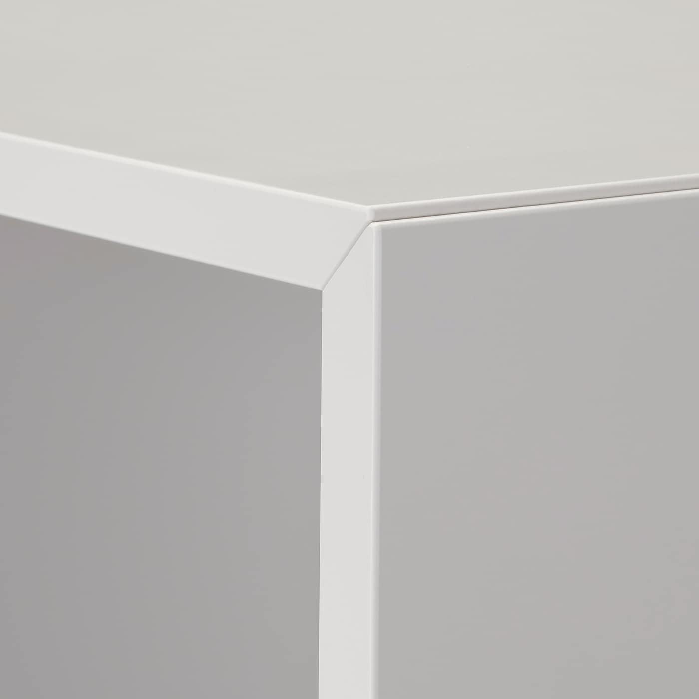 EKET Wall-mounted shelving unit w 4 comp, light grey, 70x35x70 cm
