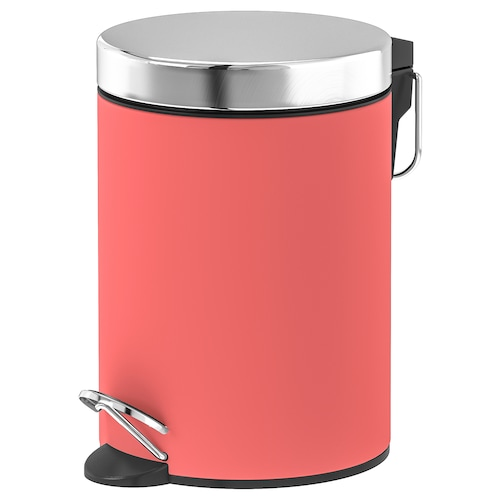 EKOLN waste bin light red 24 cm 17 cm 3 l