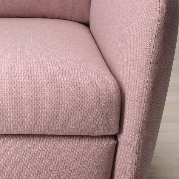 EKOLSUND Recliner, Gunnared light brown-pink