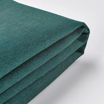 EKTORP غطاء كنبة ثلاث مقاعد, مع أريكة طويلة/Totebo تركواز غامق