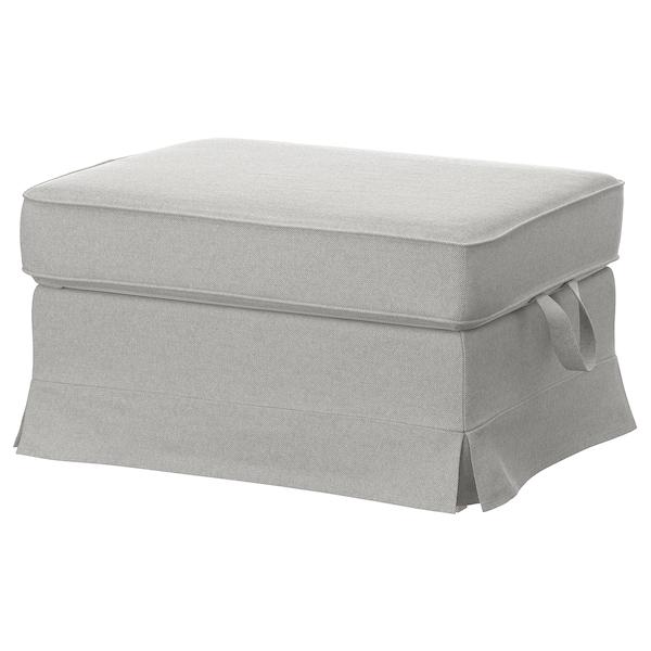 EKTORP Cover for footstool, Tallmyra white/black