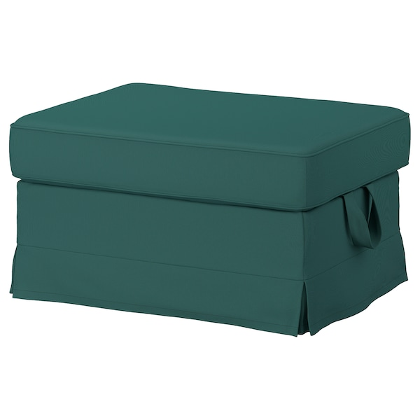 EKTORP Cover for footstool, Totebo dark turquoise