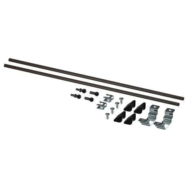 ENHET Assembly kit for kitchen island, anthracite, 40 cm