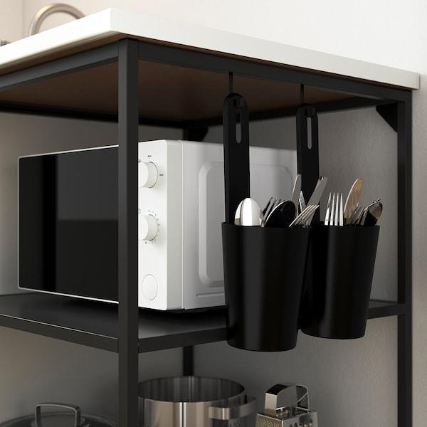 ENHET Base fr w shelves, anthracite, 40x60x75 cm