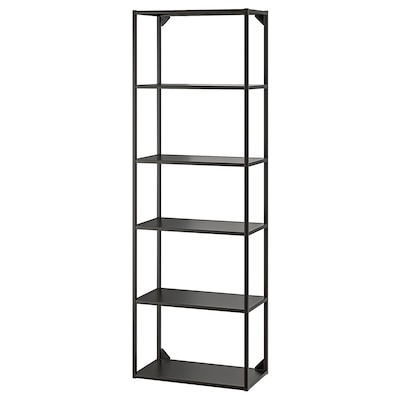 ENHET High fr w shelves, anthracite, 60x30x180 cm