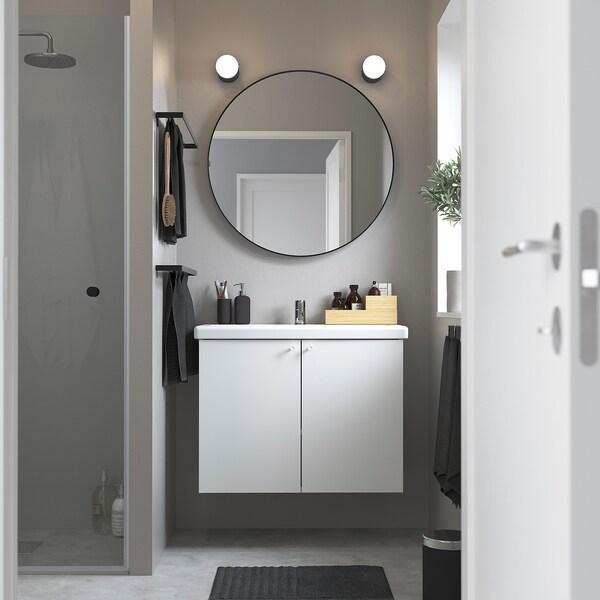 ENHET / TVÄLLEN Wash-basin cabinet with 2 doors, white/Pilkån tap, 84x43x65 cm