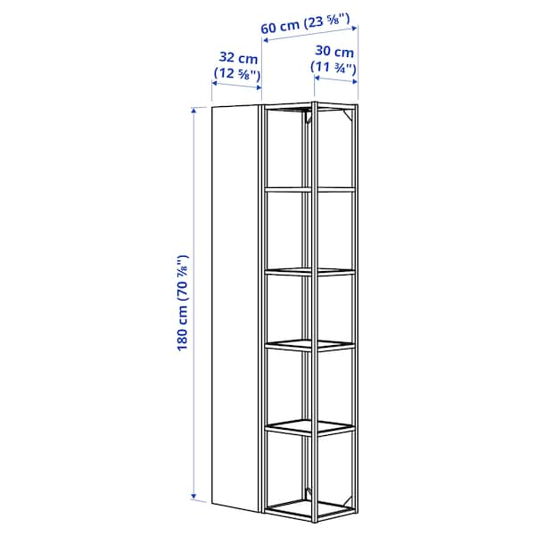 ENHET Wall storage combination, white, 60x32x180 cm