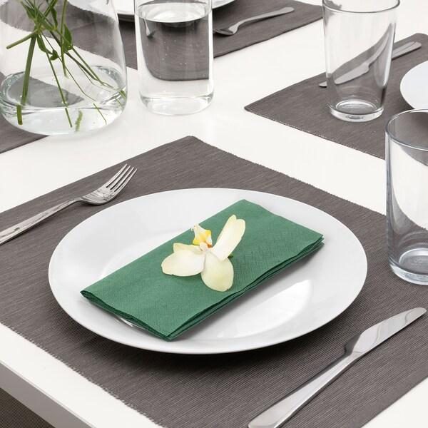 FANTASTISK paper napkin dark green 40 cm 40 cm 50 pieces