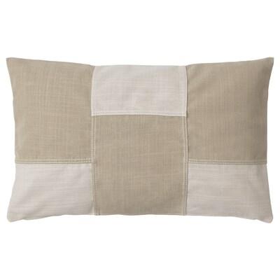 FESTHOLMEN Cushion cover, in/outdoor/light beige beige, 40x65 cm
