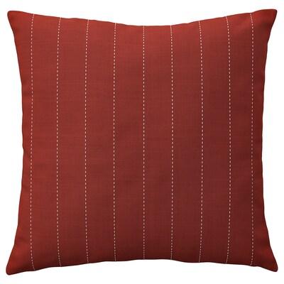 FESTHOLMEN غطاء وسادة، داخلي/خارجي, أحمر/رمادي فاتح-بيج, 50x50 سم