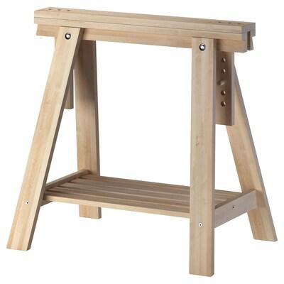 FINNVARD Trestle with shelf, birch, 70x71/93 cm